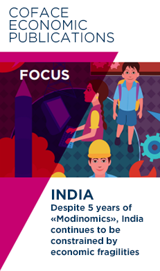 "Discover our latest FOCUS economic publication on India : ""Despite five years of ""Modinomics"", India continues to be constrained by economic fragilities."""